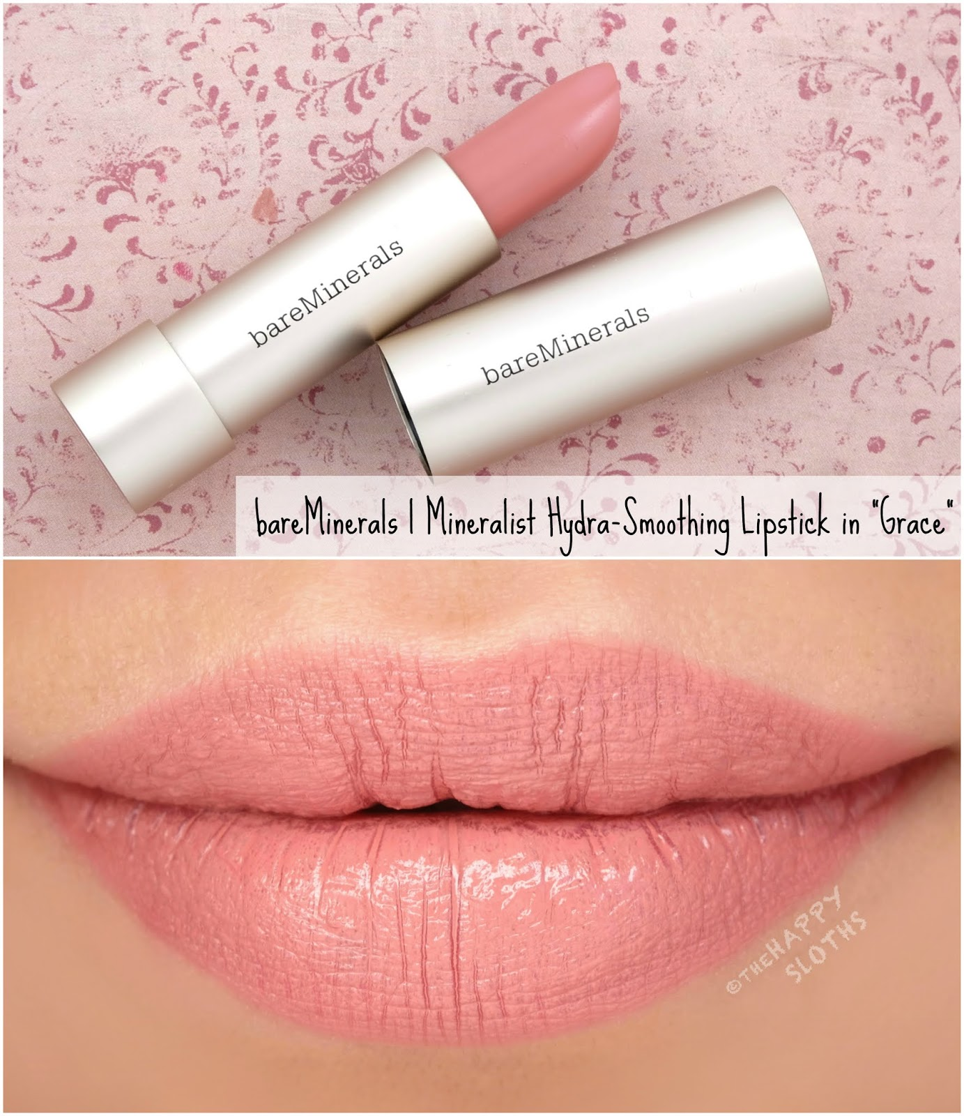 "bareMinerals | Mineralist Hydra-Smoothing Lipstick in ""Grace"": Review and Swatches"