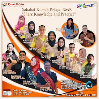 """Menjadi Narsum di kegiatan Vicon """"Share Knowledge and Practice"""" bagi Guru SMK"""
