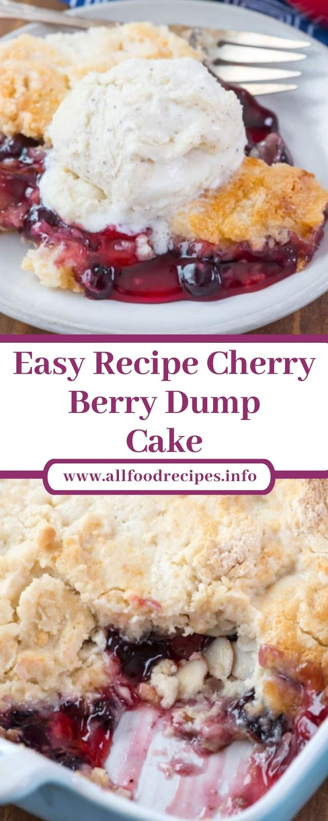 Easy Recipe Cherry Berry Dump Cake