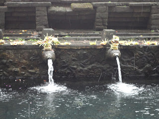 fountains in the Healing Waters Temple in Bali