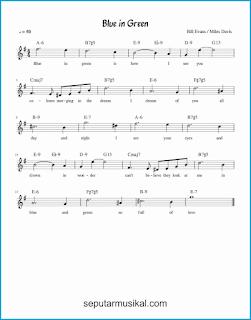 chord blue in green lagu jazz standar
