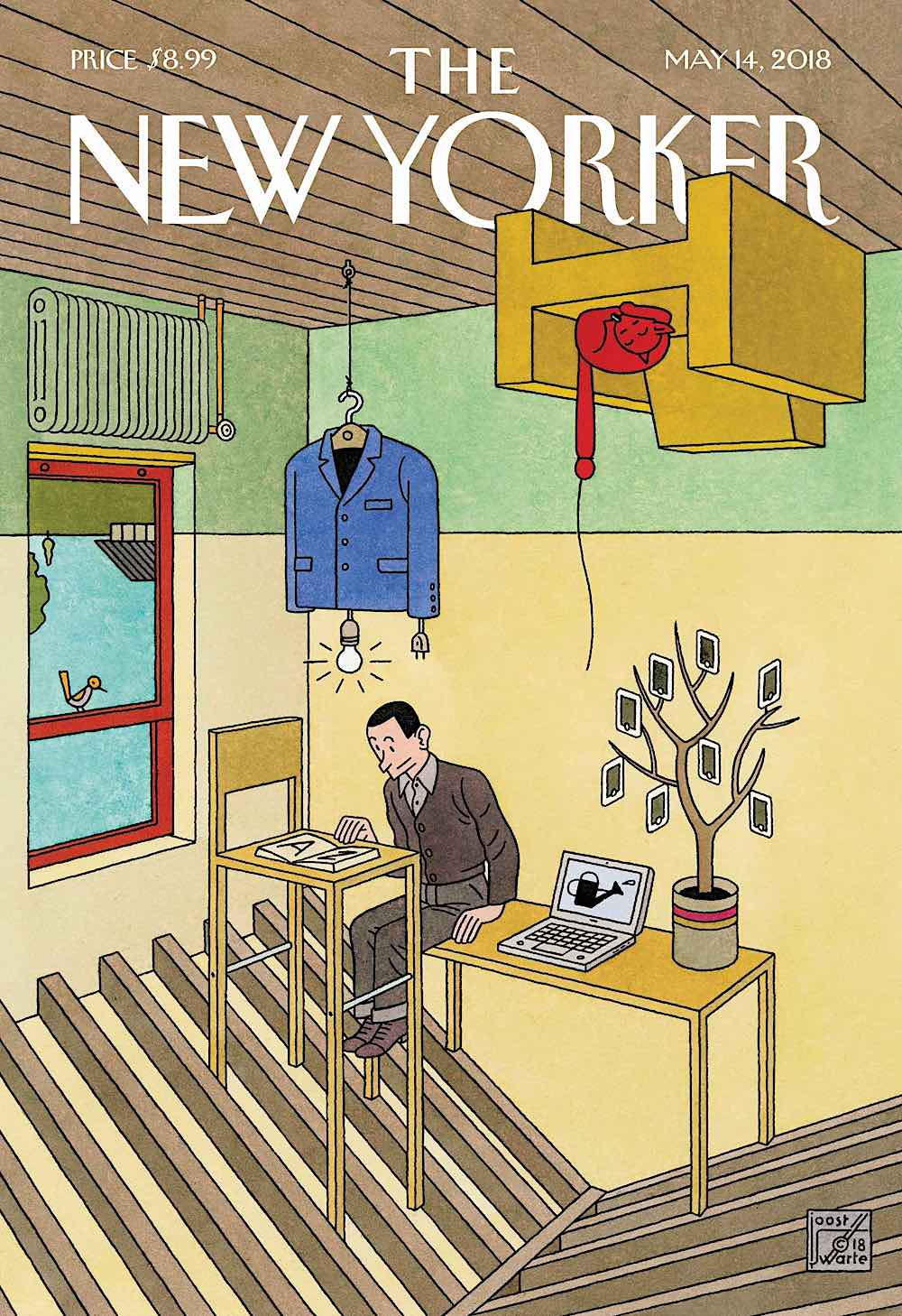 a Joost Swarte illustration for The New Yorker May 14 2018