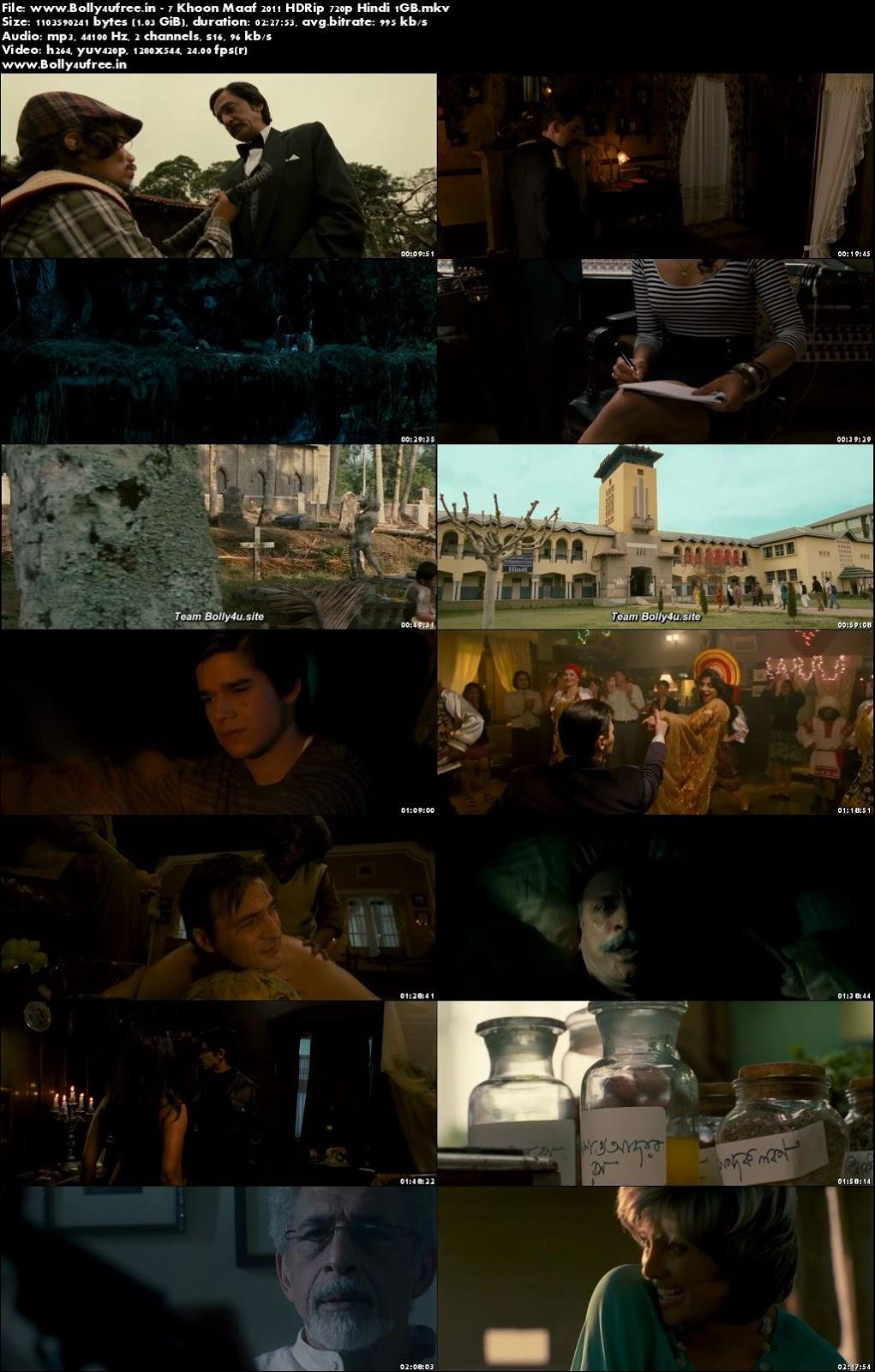 7 Khoon Maaf 2011 Hindi Full Movie Download HDRip 720p 1GB
