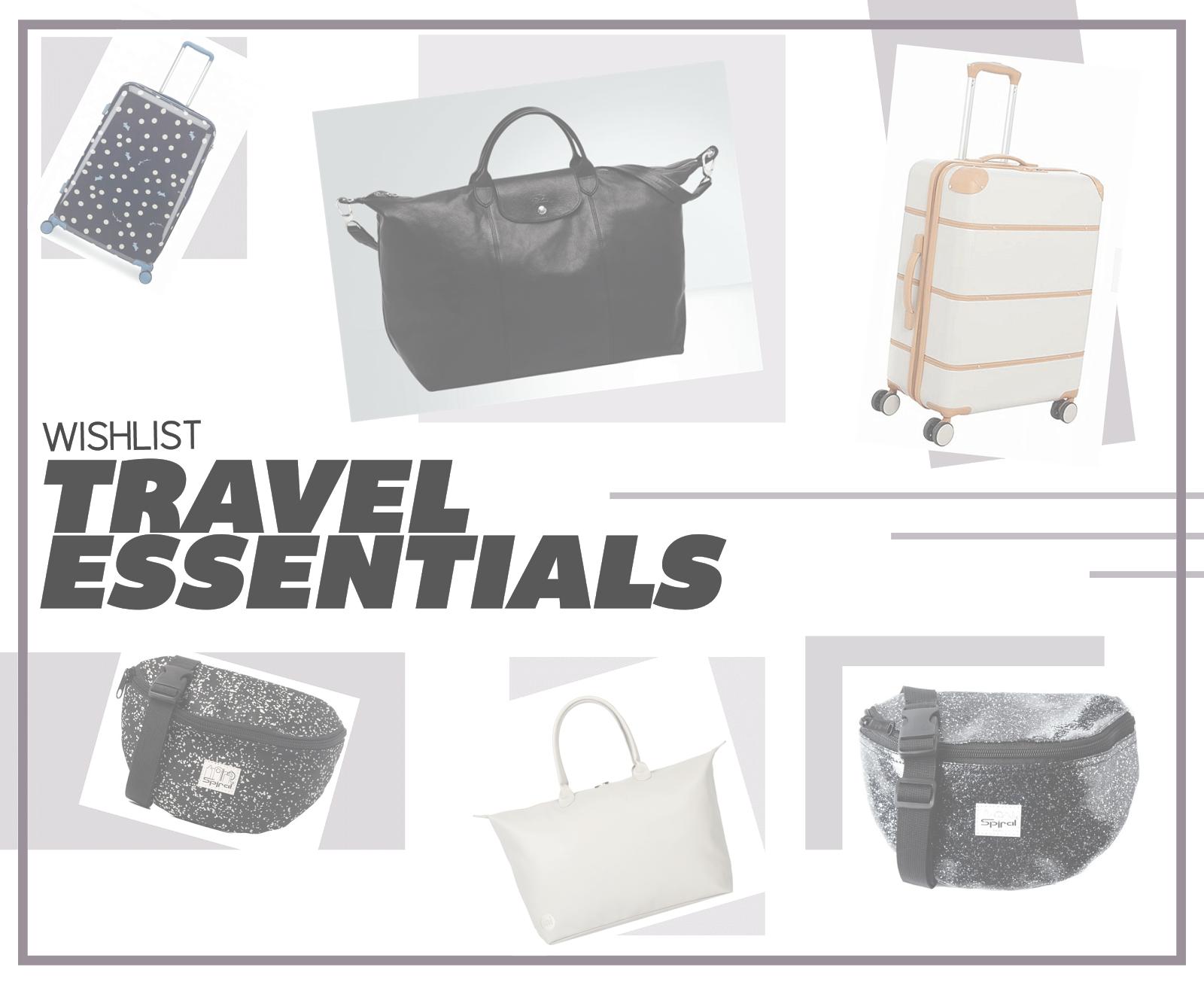 travel essential wishlist