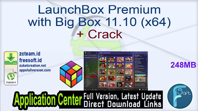 LaunchBox Premium with Big Box 11.10 (x64) + Crack