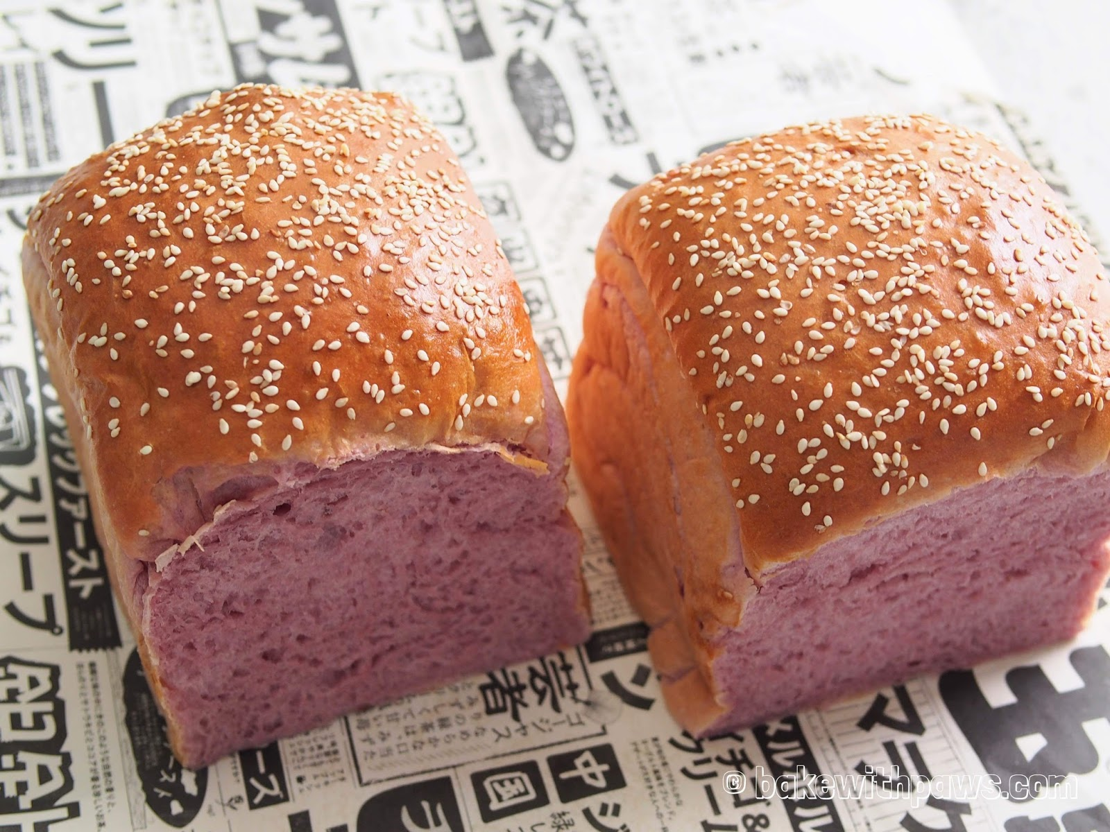 I Made This Japanese Purple Sweet Potato Loaf For My Step Daughter When She Was Back For Summer Holidays Recently I Have Made Her Few Different Breads But