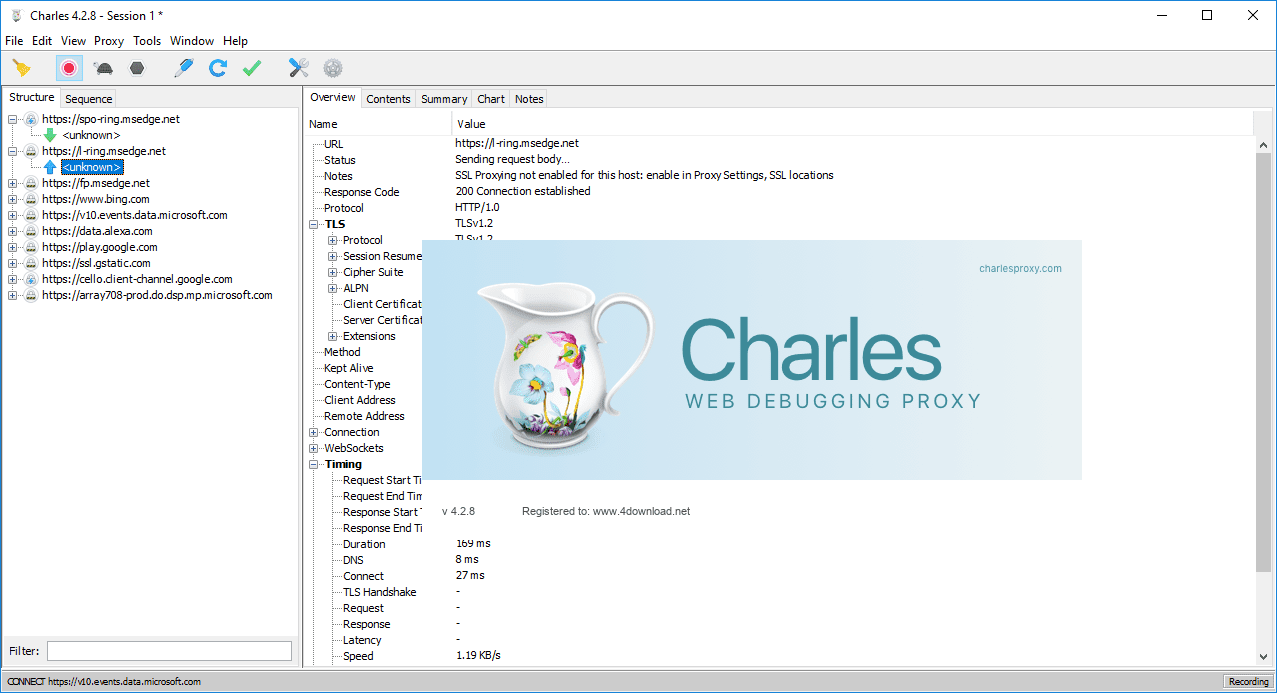 """Resultado de imagen de Charles Web Debugging Proxy 4"""""""