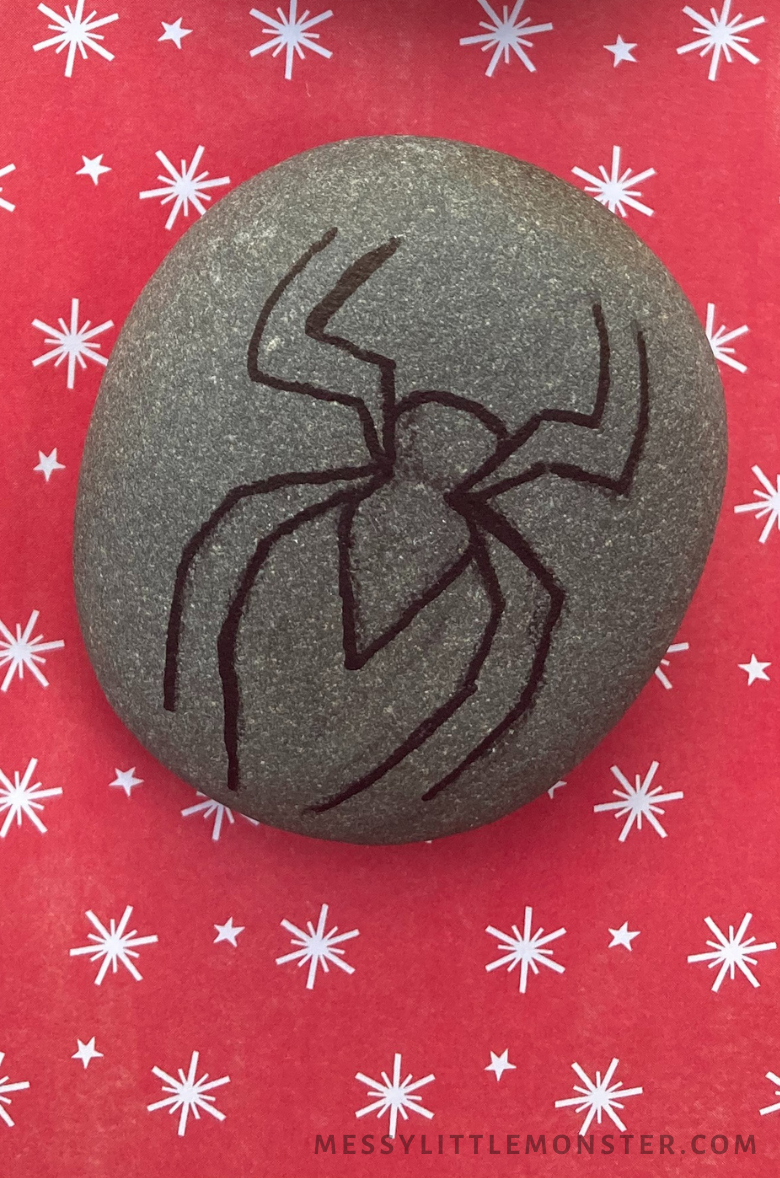 Superhero rock painting  - Spiderman