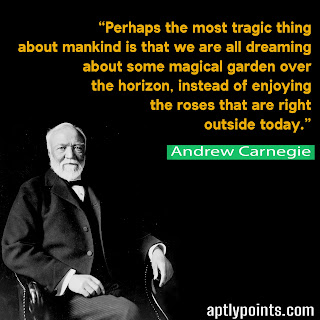 Inspirational Quotes By Andrew Carnegie, Aptly Points