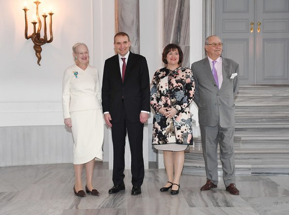 Queen Margrethe, Eliza Jean Reid, Crown Princess Mary, Princess Marie, Prince Jaochim, Prince Frederik, Guoni Jóhannesson