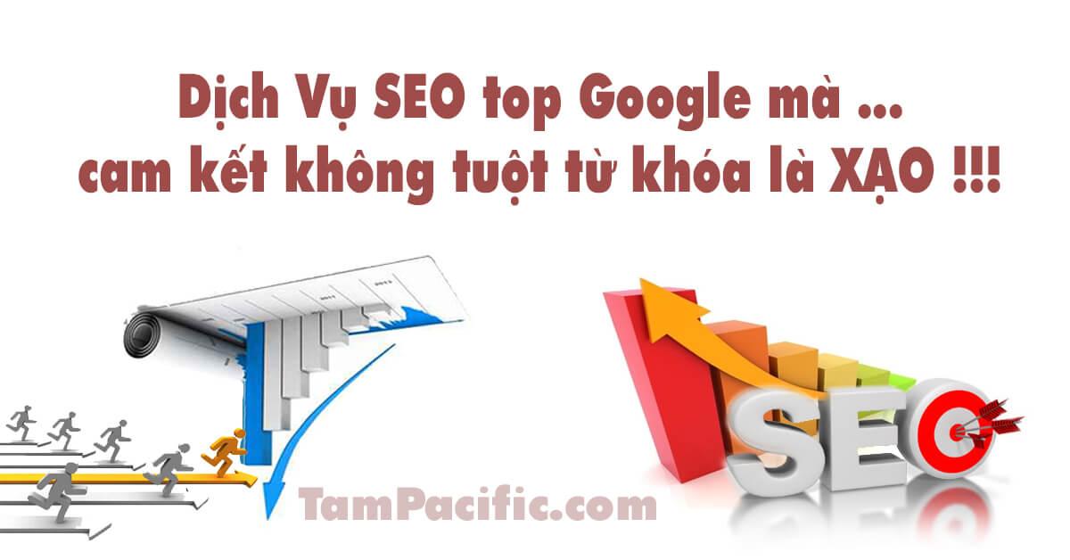 Dịch vụ SEO top Google mà cam kết không tuột từ khóa là XẠO