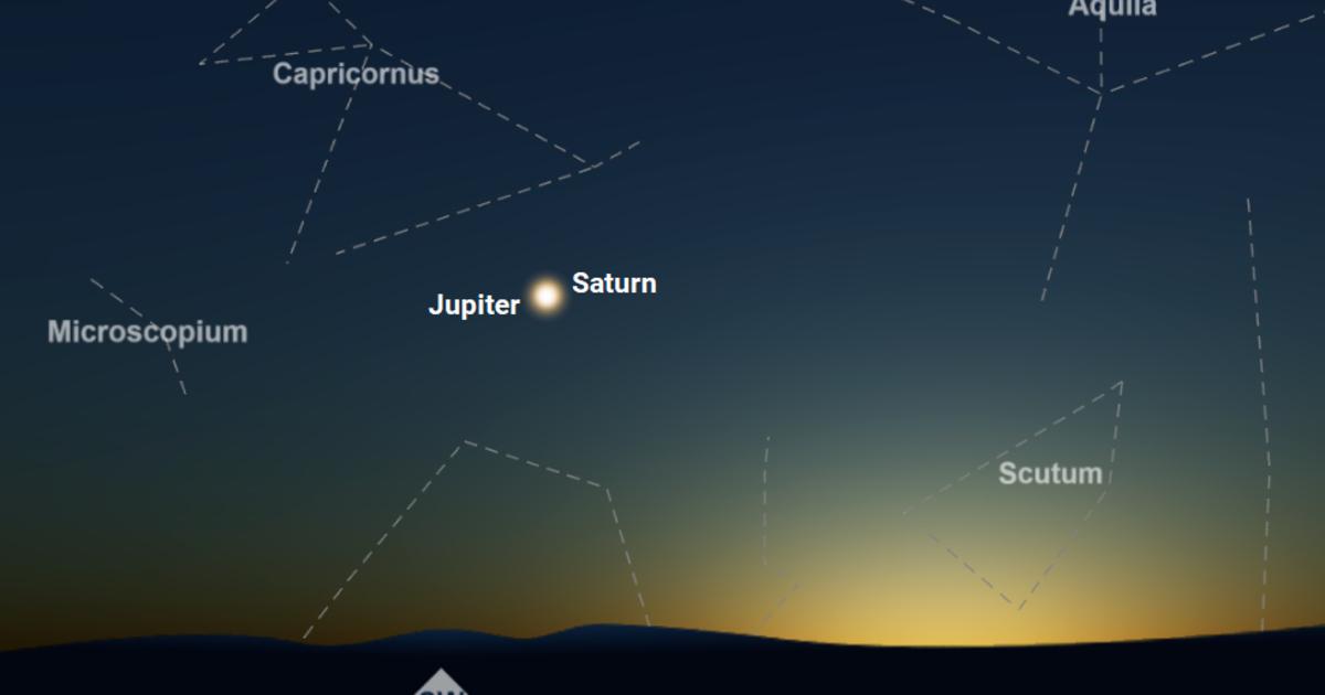 Jupiter und Saturn am 21. Dez
