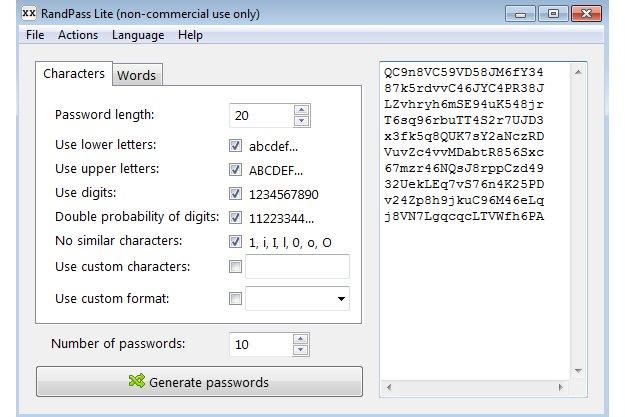 RandPass Lite - Δημιουργήστε ισχυρούς κωδικούς πρόσβασης
