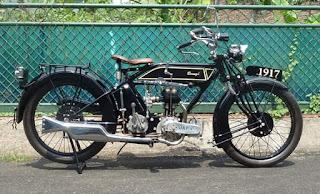 Jual motor tua klasik Brough 1917 JAP London 1917 400cc SV