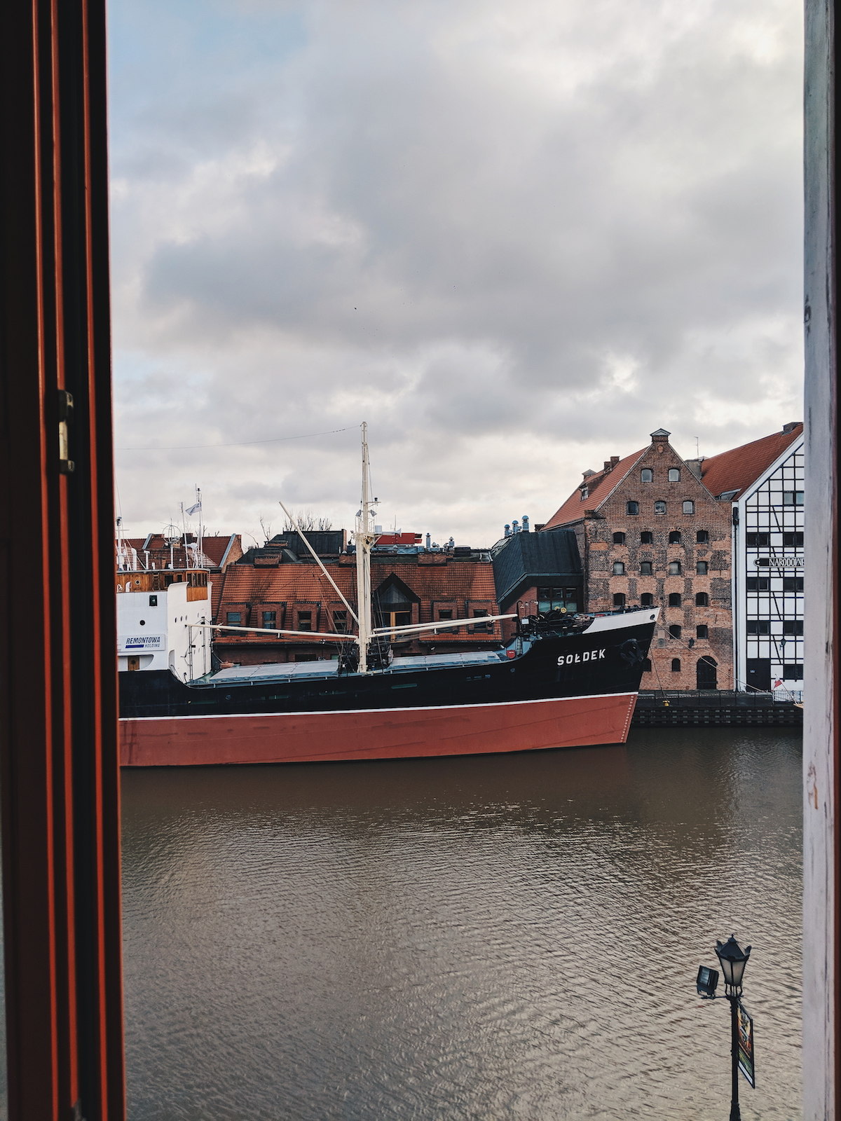 View of the river at Hotel Hanza in Gdansk