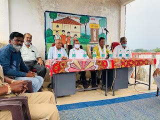 विधायक राजा कमलेश शाह ने किया सड़क व सांसद निधि से स्वीकृत रंगमंच का भूमि पूजन