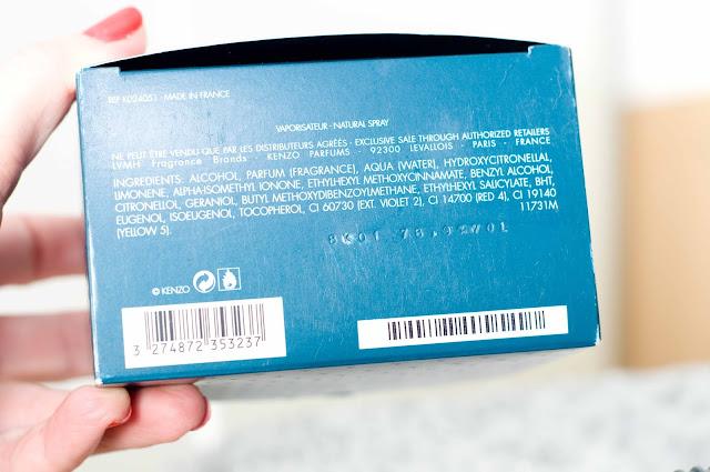 pudełko tekturowe Kenzo World kod na spodzie