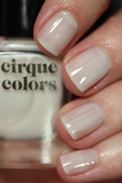 Cirque Colors Linen sheer white nail polish