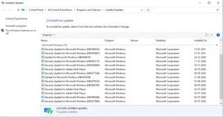 Güncellemeleri kaldırmak için Ayarlar>  Güncelleme ve Güvenlik > Windows Güncelleme  >  Güncelleme geçmişini görüntüle'ye gidin .