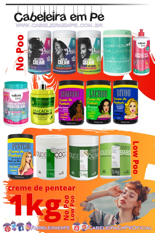 lista de creme de pentear de 1kg - Soul Power, Flora Fiora, Salon Line, Forever Liss, Kanechom e Griffus (opções liberadas e baratas)
