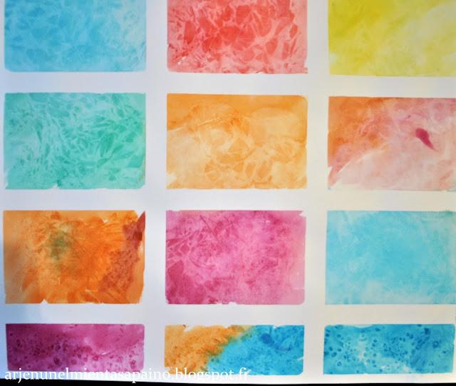 kelmu, maalaus, vesivärit, akvarellipaperi, kortit, diy,