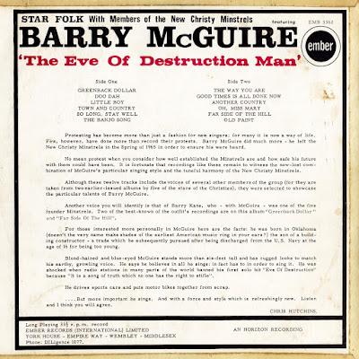 Barry McGuire - The Eve Of Destruction Man (1965)