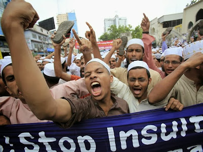 Muslim protest in Bangladesh