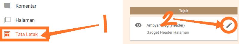 langkah merubah logo header di blog