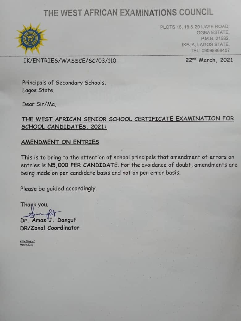 WAEC CASS Capturing System 2021 | Instructions & Guidelines