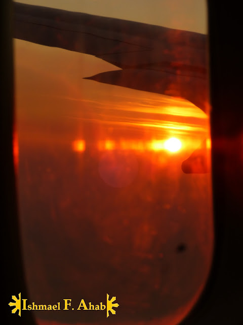 Orange sky as viewed in Philippine Airlines flight