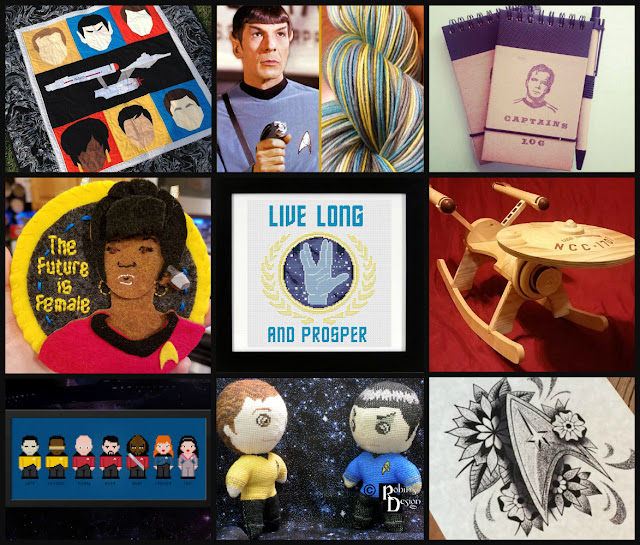 Collage of Star Trek Fan art for sale on Etsy