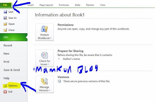 Cara Mengaktifkan Auto Recover di Excel