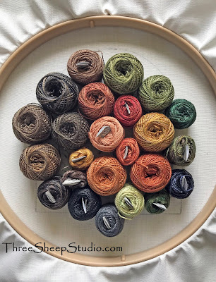 A collection of Valdani Perle Cotton Thread for Punch Needle Embroidery