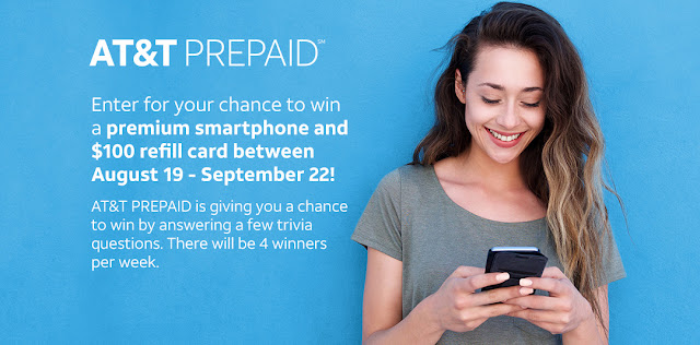 AT&T will choose four lucky winners every week who will win a brand new smartphone, complete with a refill card. Enter every week for your chance to win!
