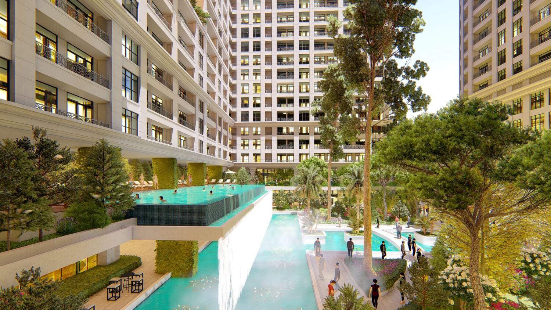 Vườn ban mai dự án Sunshine Garden Minh Khai