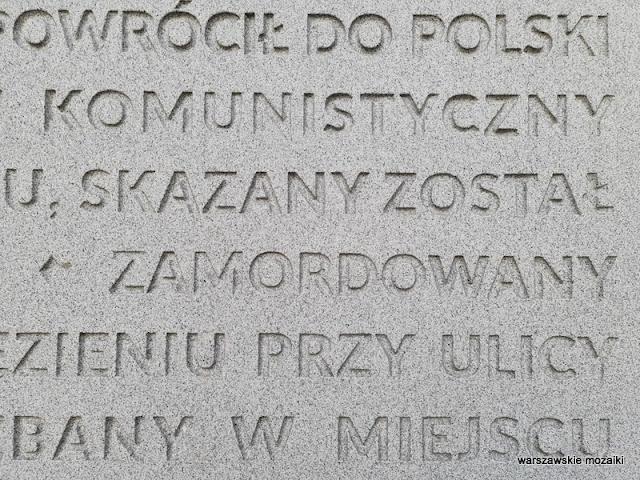 Warszawa Warsaw Żoliborz aleja Wojska Polskiego pomniki warszawskie rotmistrz Witold Pilecki