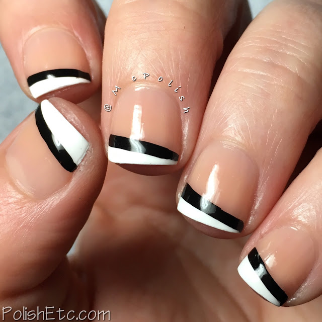 Black and White Nails for the #31DC2018Weekly - McPolish