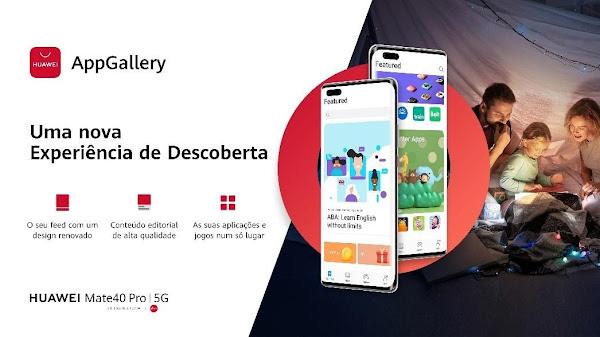 Huawei apresenta novo design da Huawei AppGallery para melhorar a experiência do utilizador