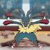 Capitulo 25 Serie Pokémon Temporada 23 ¡Un festival de batalla explotando con vida! ¡Vs Mega Lucario!