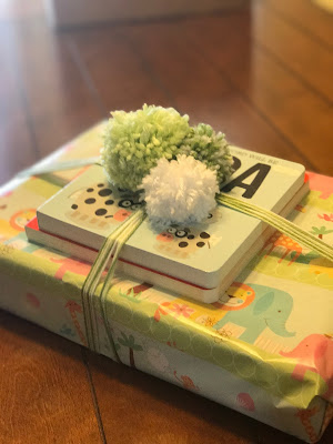 Baby Shower Gift with Pom Poms