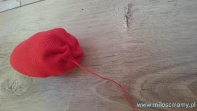 tulipan z materiału