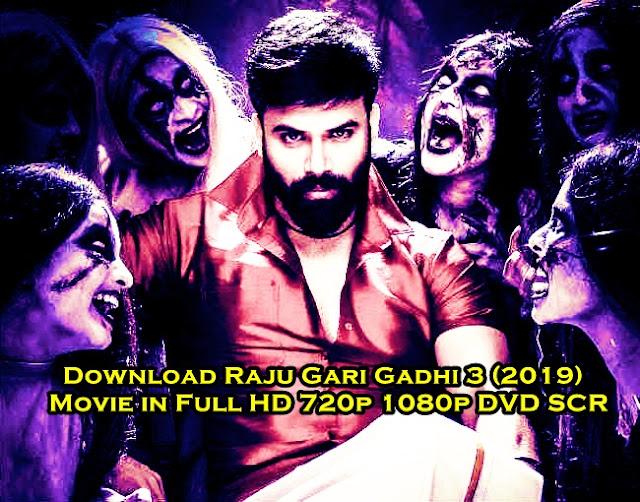 Download Raju Gari Gadhi 3 (2019) Movie in Full HD 720p 1080p DVD SCR