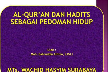 Jawaban Evaluasi Bab 4 PAI Kelas 10 Halaman 62 (Al-Qur'ān dan Hadis adalah Pedoman Hidupku)