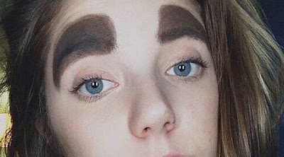 So creative: Gallery Of The Craziest Eyebrows You Will Ever See Shared Online. #baydorzblogng