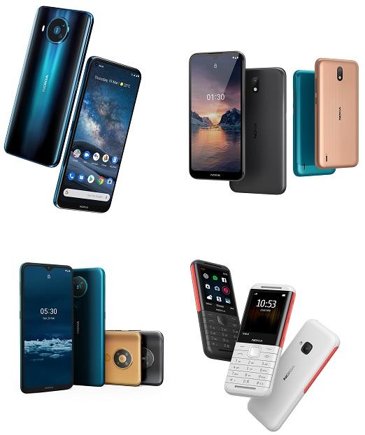 Nokia 8.3 5G, Nokia 5.3, Nokia 1.3, Nokia 5310 Xpress Music