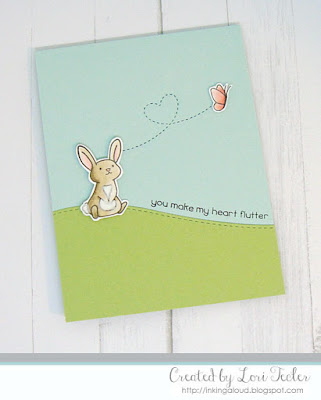 You Make My Heart Flutter card-designed by Lori Tecler/Inking Aloud-stamps from Lawn Fawn
