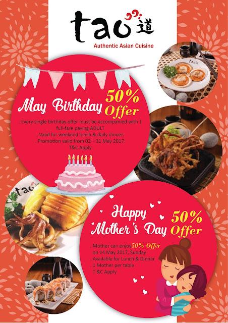 Tao Authentic Asian Cuisine Buffet Discount Promo