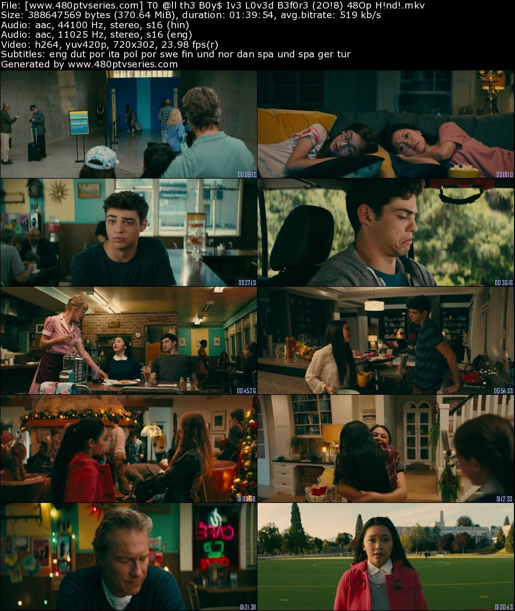 To All the Boys I've Loved Before (2018) 350MB Full Hindi Dual Audio Movie Download 480p Web-DL Free Watch Online Full Movie Download Worldfree4u 9xmovies