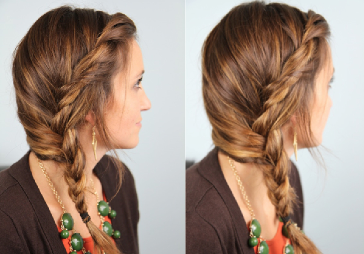 Easy Loose Side Hairstyling For Girls 3