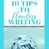 Ten tips to flawless writing
